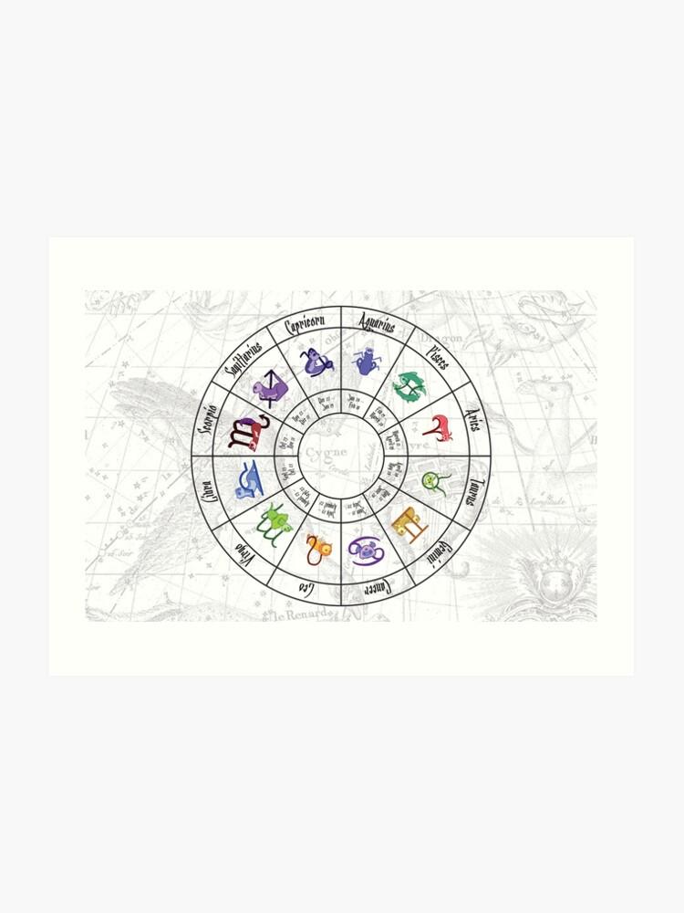 Calendrier Du Zodiaque.Calendrier Du Zodiaque Du Furet Impression Artistique