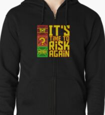 It's Time to Risk Again Zipped Hoodie