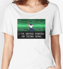 Tecmo Bowl I've Never Punted Women's Relaxed Fit T-Shirt