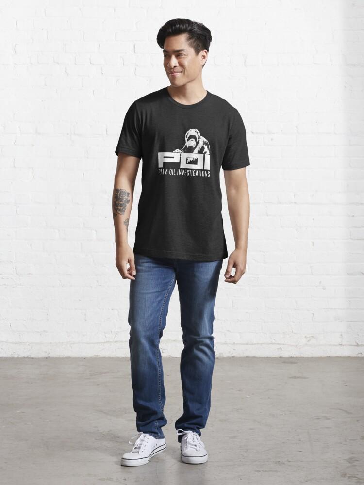 Alternate view of POI - Palm oil investigations logo white Essential T-Shirt