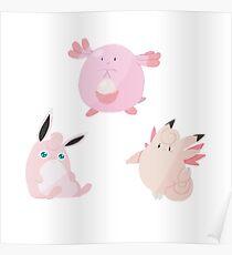 Pink Pokemon Poster