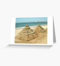 Sand Sculptures Greeting Card
