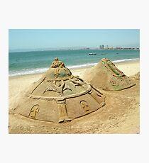 Sand Sculptures Photographic Print