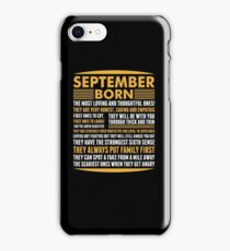 September Born iPhone Case/Skin