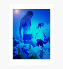Blue Summer 1 Art Print