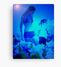 Blue Summer 1 Canvas Print