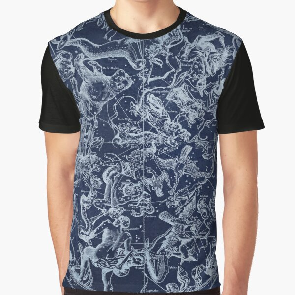 Vintage Constellations & Astrological Signs | White Graphic T-Shirt
