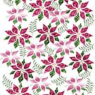 poinsettia Pattern by aldona