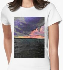 Pink Sky with Lavender Clouds and the Dark Sea T-Shirt
