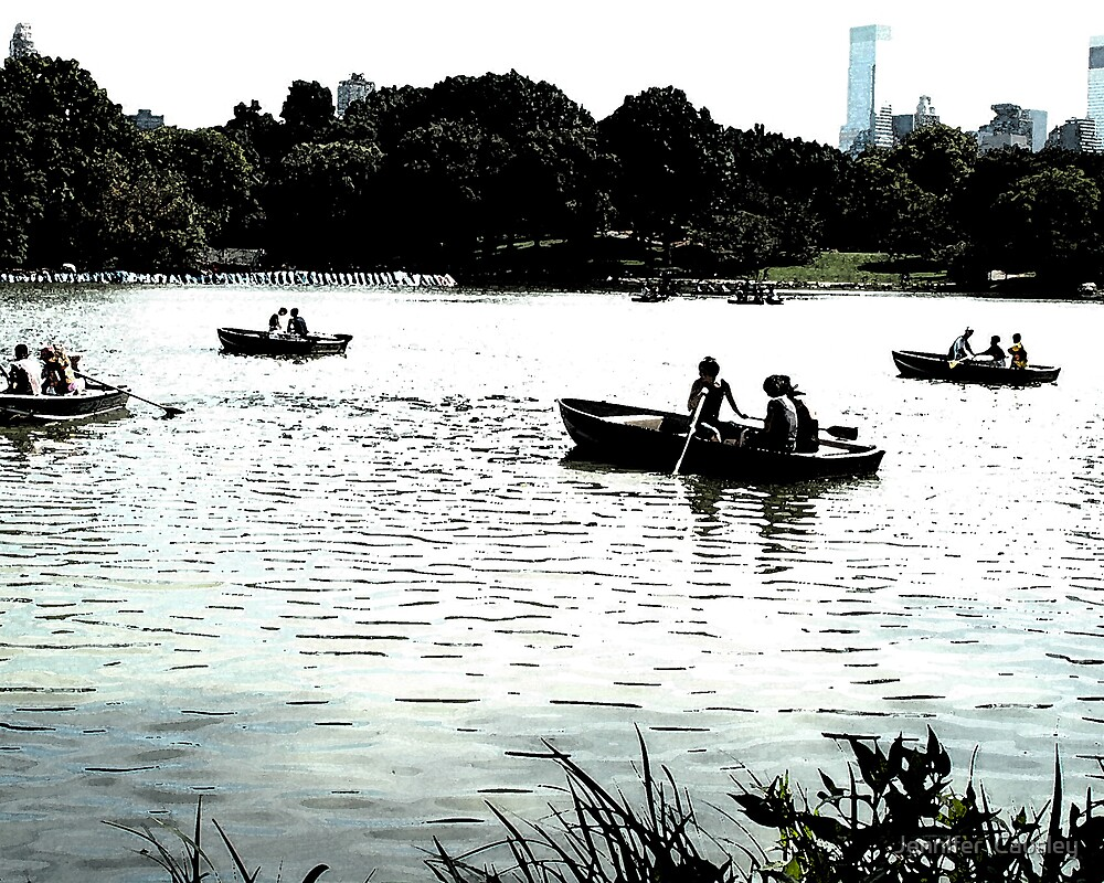 Rowboating in Central Park by Jennifer  Causley