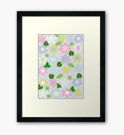 pastel print Framed Print