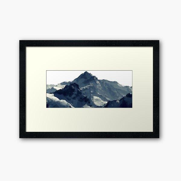 Polygonal Mountains Design Framed Art Print