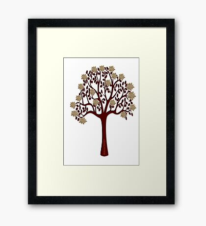 A tree with flowers [1376 Views] Framed Print