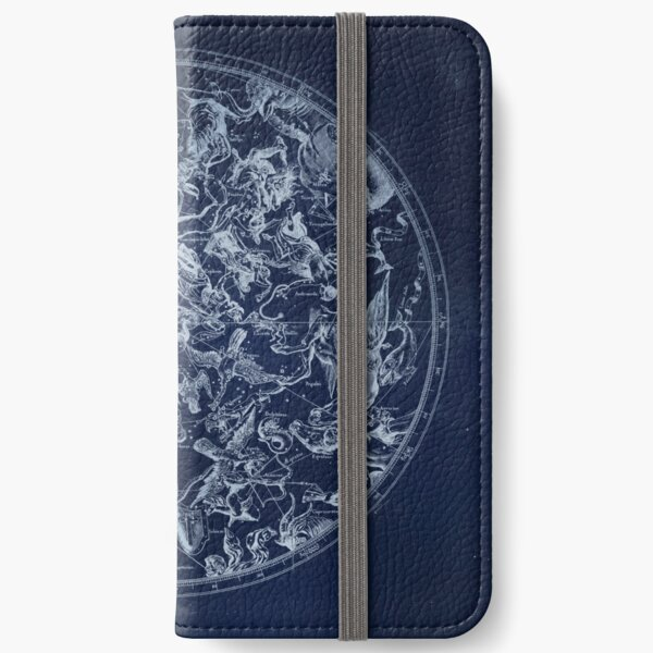 Vintage Constellations & Astrological Signs | White iPhone Wallet
