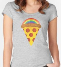 pizza is magic Women's Fitted Scoop T-Shirt