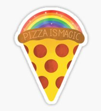 pizza is magic Sticker