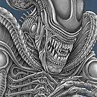 Alien Xenomorph (Blue) by Wm. Randal Painter