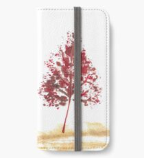 Leaf Print Tree - 02A (with transparency)  iPhone Wallet