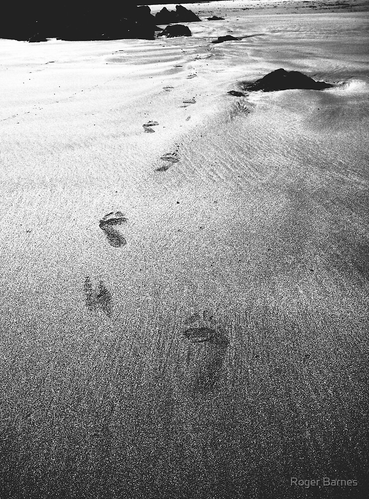 Footprints in the sand by Roger Barnes