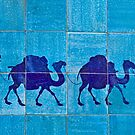 Silk Road Tile Camels, Khiva by Gillian Anderson LAPS, AFIAP