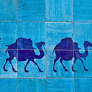 Silk Road Tile Camels, Khiva by Scully