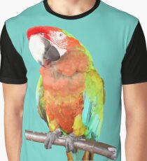 Vector Style Harlequin Macaw On A Perch Graphic T-Shirt