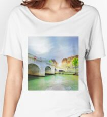 Paris in watercolor Women's Relaxed Fit T-Shirt