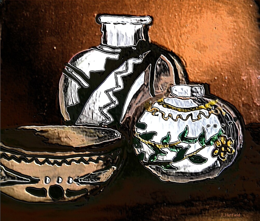 Copper and Pottery by HidintheSierras