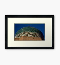 Green dome detail Framed Print