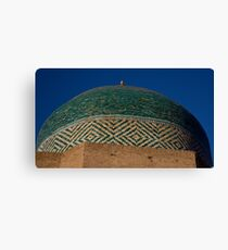 Green dome detail Canvas Print