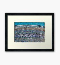 Kalon mosque colour, Bukhara Framed Print