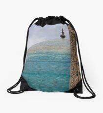 Blue Dome Drawstring Bag