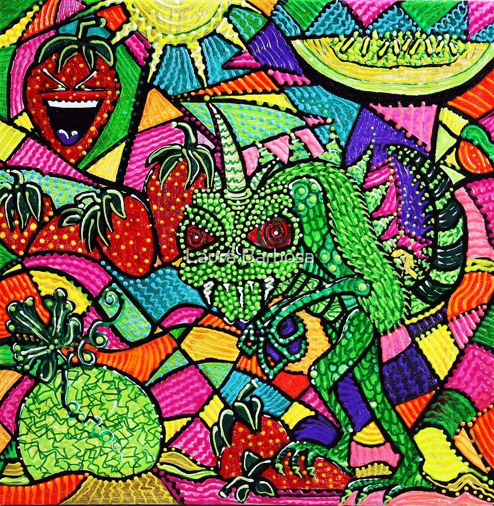 Chupacabra Loves Strawberry Melon by Laura Barbosa