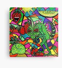 Chupacabra Loves Strawberry Melon Metal Print