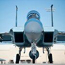 Ein US Air Force F-15D Eagle Taxi zur Startbahn. von StocktrekImages