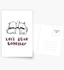 Let's Stick Together Postcards