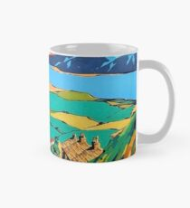 Great Orme tramway, railway, Great Britain, sightseeing, vintage travel poster Mug