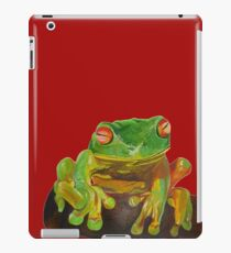 Cute Red Eyed Tropical Tree Frog iPad Case/Skin