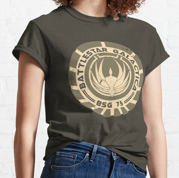 Battlestar Galactica - BSG 75 logo Classic T-Shirt