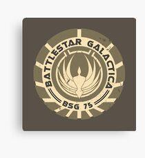 Battlestar Galactica - BSG 75 logo Canvas Print