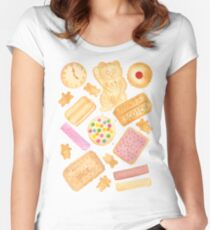 Biscuits In Bed - By Merrin Dorothy Women's Fitted Scoop T-Shirt