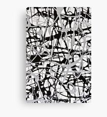 Monochrome Splat Canvas Print