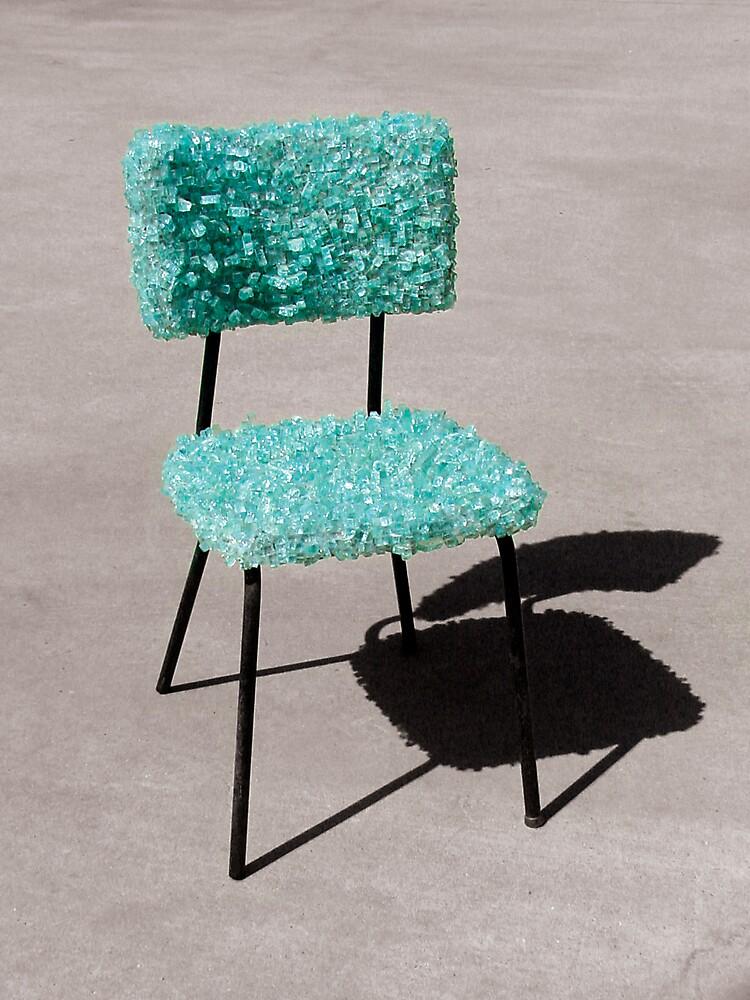 Glass Chair sculpture by Zack Nichols