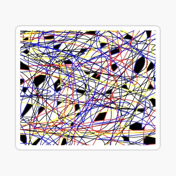 Swirling Galactic Strings Sticker