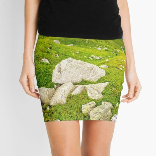 boulders on the hillside Mini Skirt