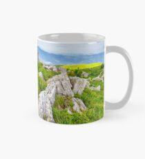 dandelions among the boulders on hill side Mug