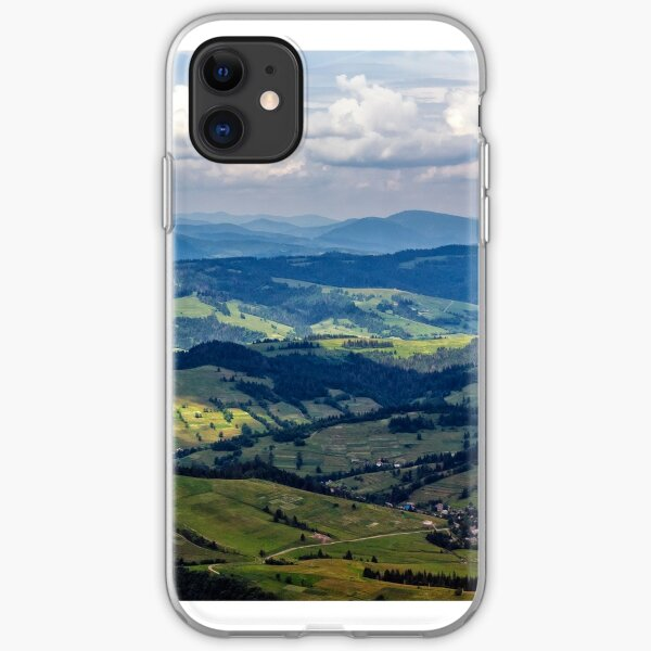 high mountain panorama view iPhone Soft Case