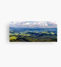 high mountain panorama view Canvas Print