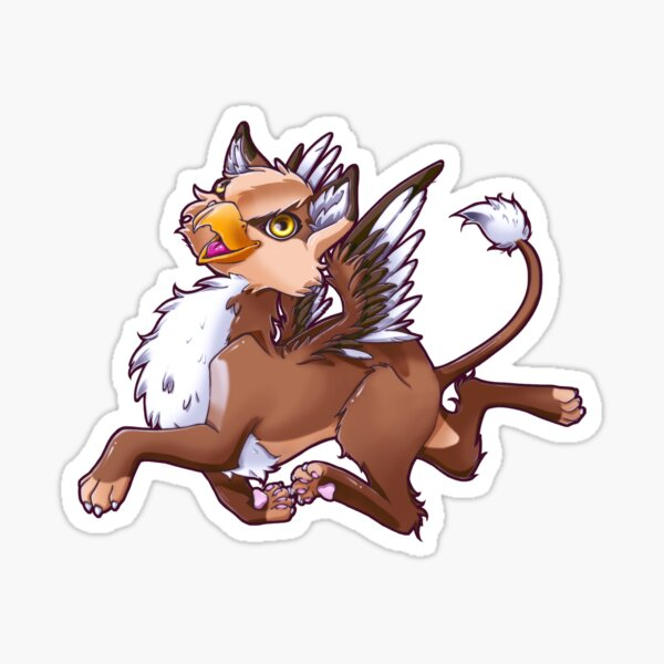 My little gryphon -Happy Pegatina
