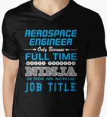 AEROSPACE ENGINEER BEST DESIGN 2017 Men's V-Neck T-Shirt